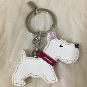 COACH Scottie Key Ring Key Fob w/Sleeper Bag